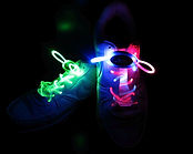 pink green led shoe laces
