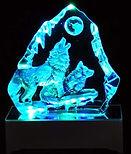 LED howling wolvesGLass Iceberg