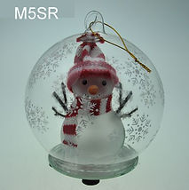 christmas globe with snowman