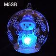 Christmas globe snowman