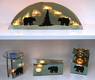 Bear candle holders