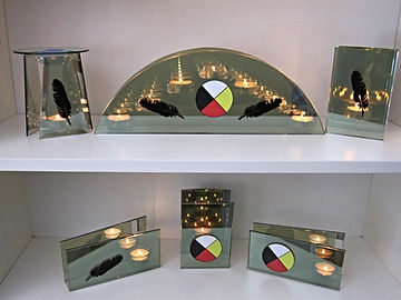 Eagle feathers medicine wheel four directions yellow red black white circle fisrt nations