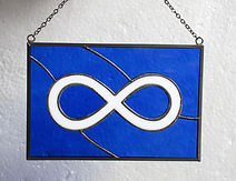 stained glass metis flag panel