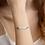 Thumbnail: Custom Engraved Silver Bar Chain Bracelet