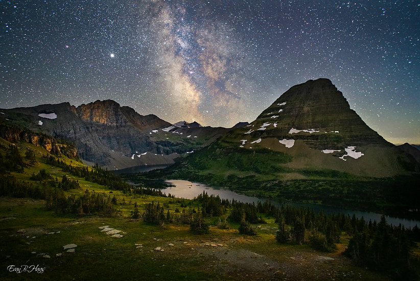 Hidden Lake Milky Way
