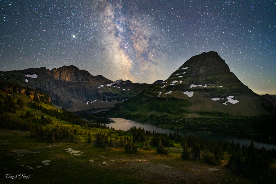 Hidden Lake Milky Way
