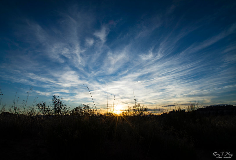 Needles Wispy Sunset