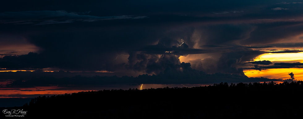 North Rim Lightning Sunset