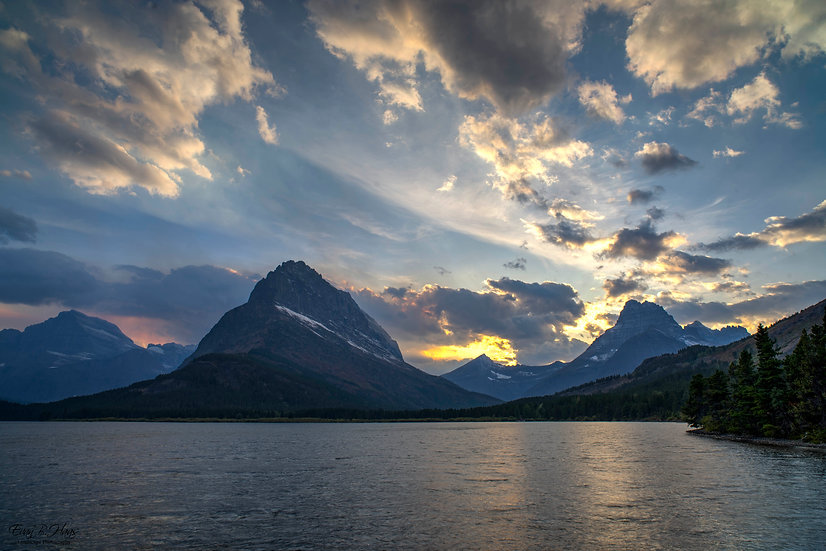 Swiftcurrent Lake Sunset