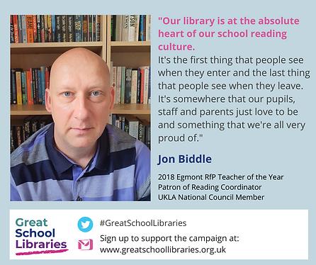 Jon Biddle Great School Library poster.p