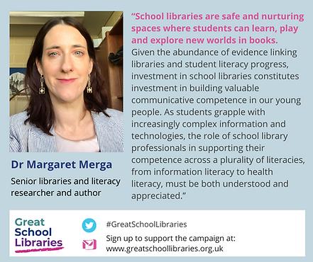 Dr Margaret Merga Great School Libraries