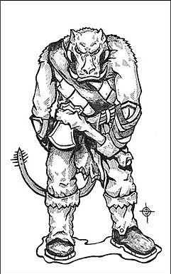 This is a sketch of a creature that greeted me in my sleep the other night. It was quite a dream. I don't know what this race is called yet. After I add some color, he'll show up in a next Monsters Menagerie. If he's as deadly as he appeared in my dream, he's going to be a hassle for a lot of adventurers.