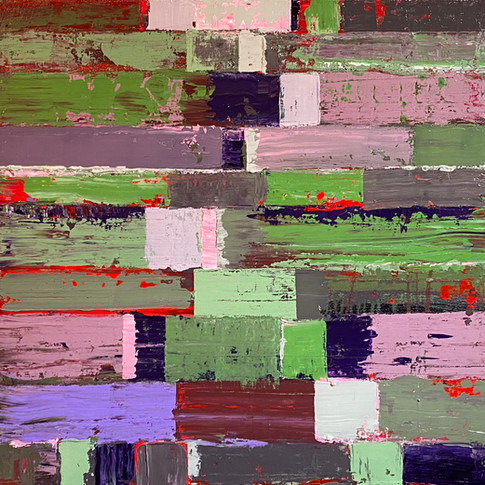 Fata Morgana (Red, Green, Violet) 19x20 inches, 2020 2000USD