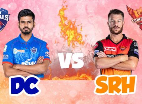 Delhi capitals Vs Sunrisers Hyderabad: Head to Head, Pitch Report, Probable 11, Dream 11 team