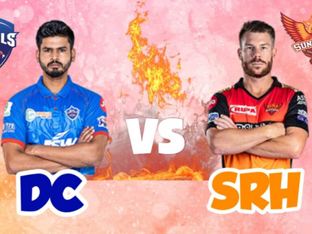 Delhi capitals Vs Sunrisers Hyderabad: Head to Head, Pitch Report, Probable 11, Dream 11 team