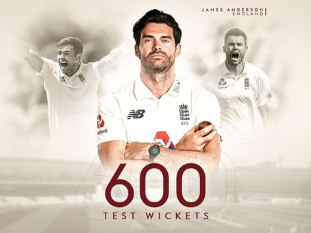 James Anderson Becomes First Fast Bowler To Take 600 Test Wickets!!