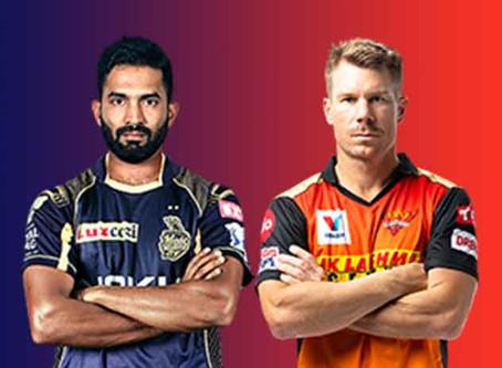 Kolkata knight Riders vs Sunrisers Hyderabad:Head to Head, Pitch Report, Probable 11, Dream 11 team
