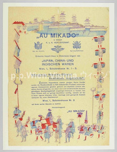 Au Mikado, G. Singer, k.u.k. Hoflieferant