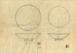 Entwurf für zwei flache Schalen
