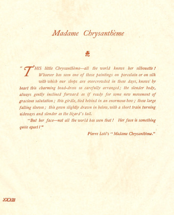 """Madame Chrysanthème"""