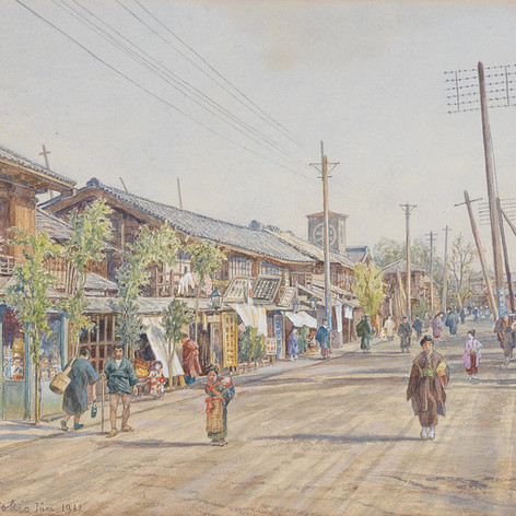 4. Watercolour and drawing: Austrian painters in Japan