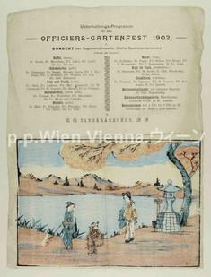 Unterhaltungsprogramm für das Officiers-Gartenfest 1902