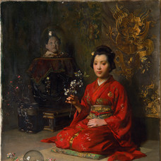 2. Oil painting and pastel: Austrian painters with Japanese motives