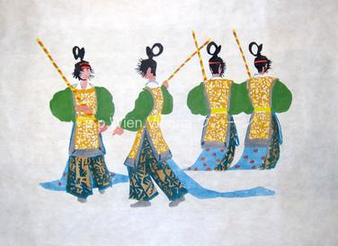 Bugaku [舞楽], Vier Tänzer