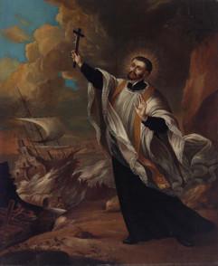 Der heilige Franz Xaver predigt an Ostasiens Küsten