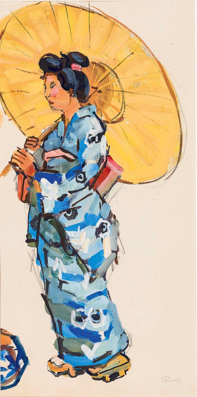 Japanerin mit Schirm