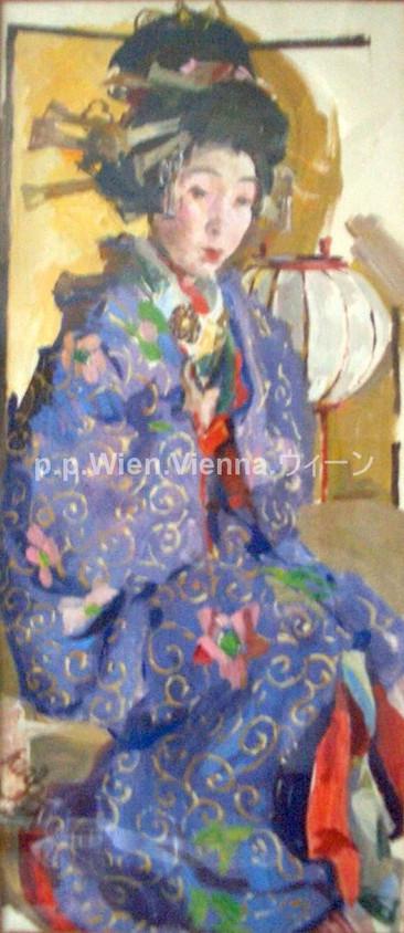 Tayû in violettem Kimono