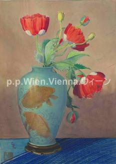 Mohnblumen in Vase