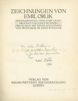 Zeichnungen von Emil Orlik