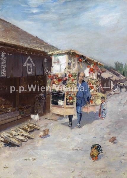 """Straßenverkäufer in Nikko"""