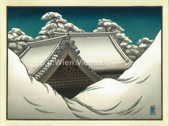 Tempeldächer im Schnee