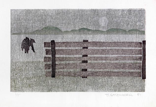 Zwei Bauern beim Bestellen ihres Feldes (Ta-ue)
