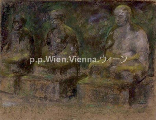 """""""Drei Steinbuddhas in Nikko"""""""