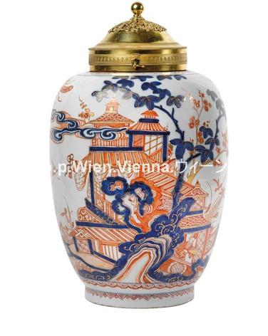 Delft doré Vase