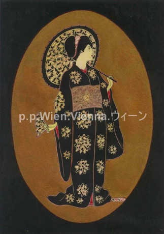 Dame in Kimono
