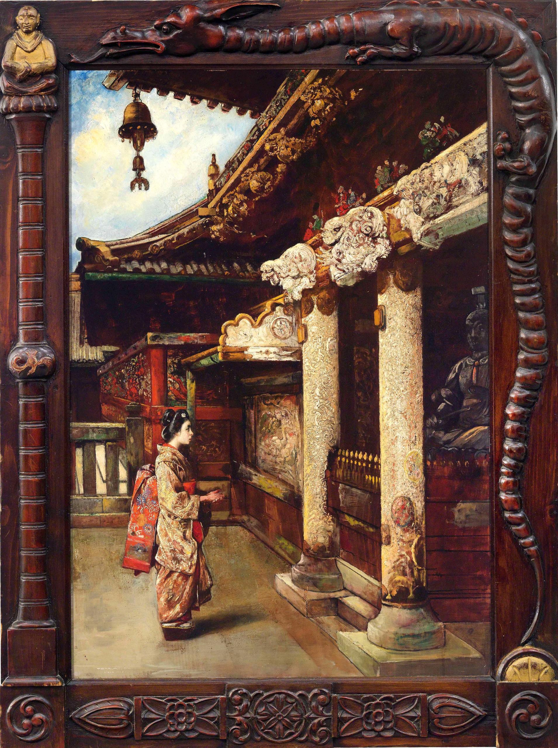Junge Frau vor dem Ieyasu-Mausoleum in Nikko