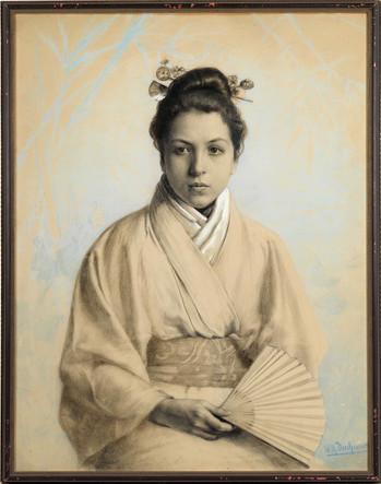 Mädchen in Kimono