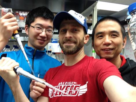 Rui, David and Zhihong being lab rats
