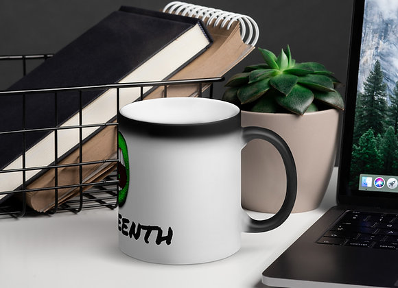 PUREMSE JUNETEENTH Matte Black Magic Mug