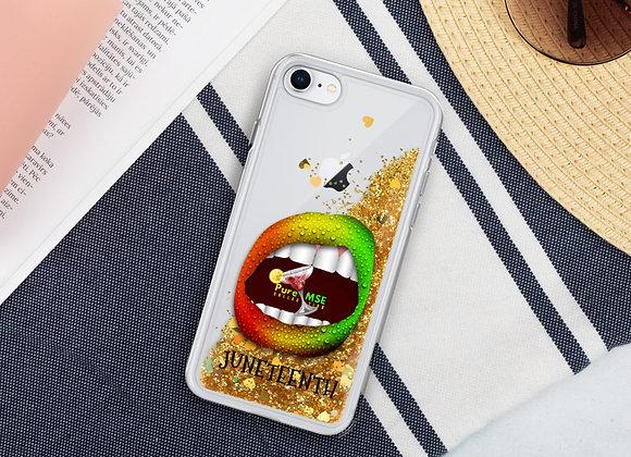 PureMSE JUNETEENTH Liquid Glitter Phone Case