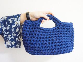 編み物教室 ズパゲッティのハンドバック