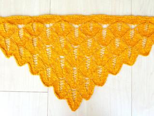 100均の糸でミニショール編んでみた (後編)