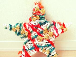 ぐるぐる毛糸クリスマスリース