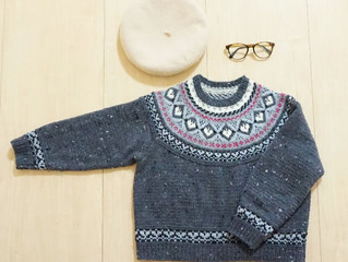 ラグランロピー風セーターを編んでみた