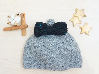 編み物教室 キッズリボンとんがり帽