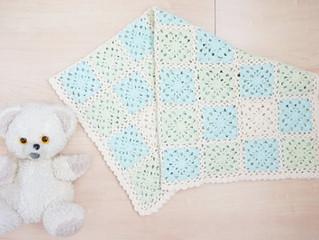 編み物教室 ベビーブランケット